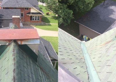 Birds Eye View of Roof Replacement